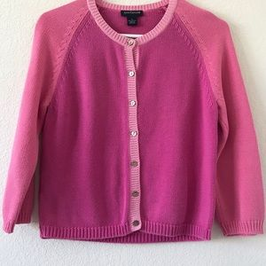 Ann Taylor Pink Color block Cardigan